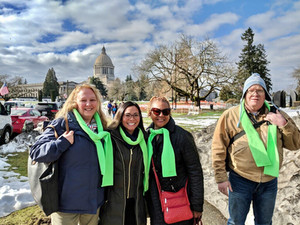 Zia Larson's Ray of Light Foundation joins forces with NAMI Seattle for NAMI Lobby Day