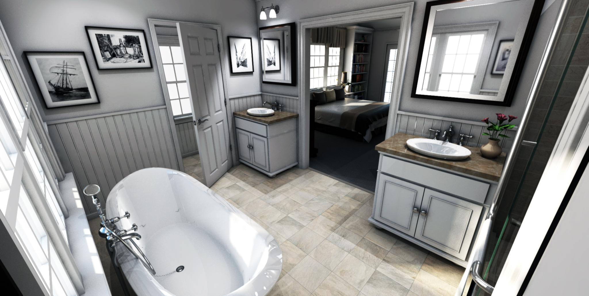 3D Bathroom design Wilmington NC