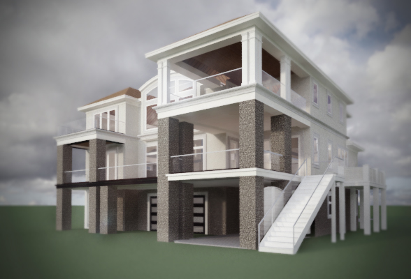 Exterior home 3D modeling Wilmington NC