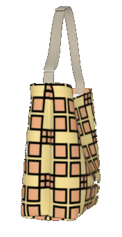 Day Tote - Adinkra - Excellence (Larger Pattern)