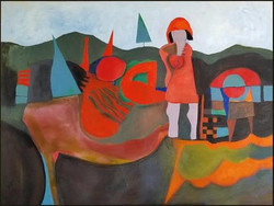 Landscape With Red Haired Woman