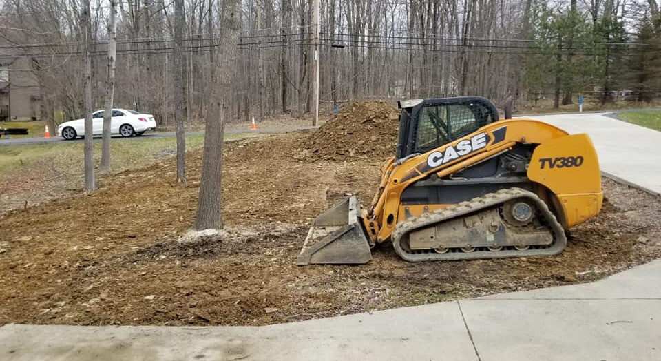grading for new lawn