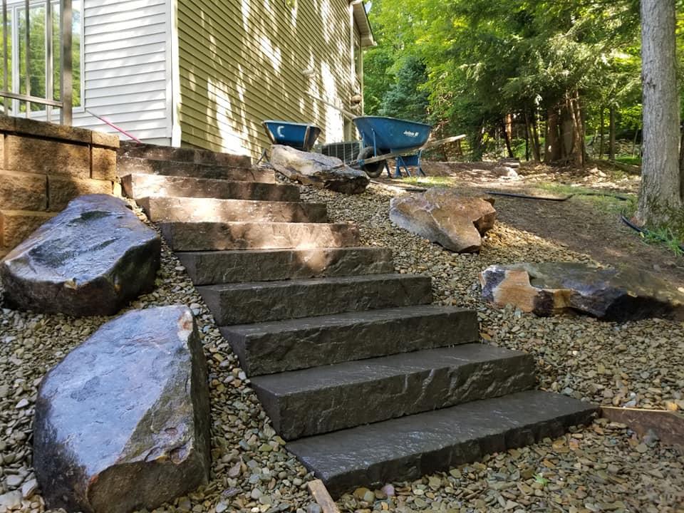 wet cast steps