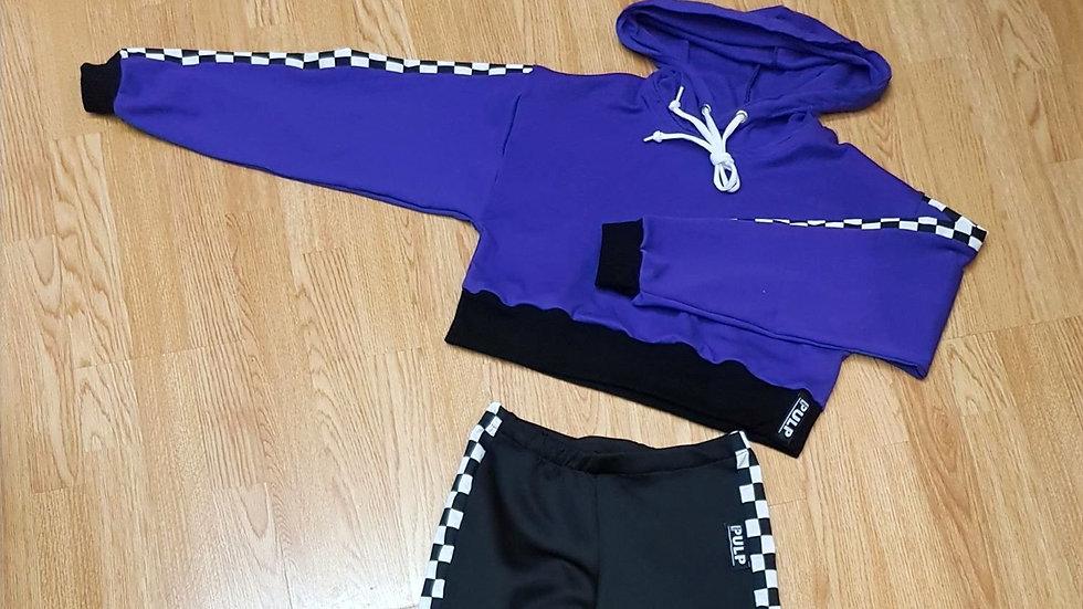 (D S) Rhythm Xtreme Crop Hood Top