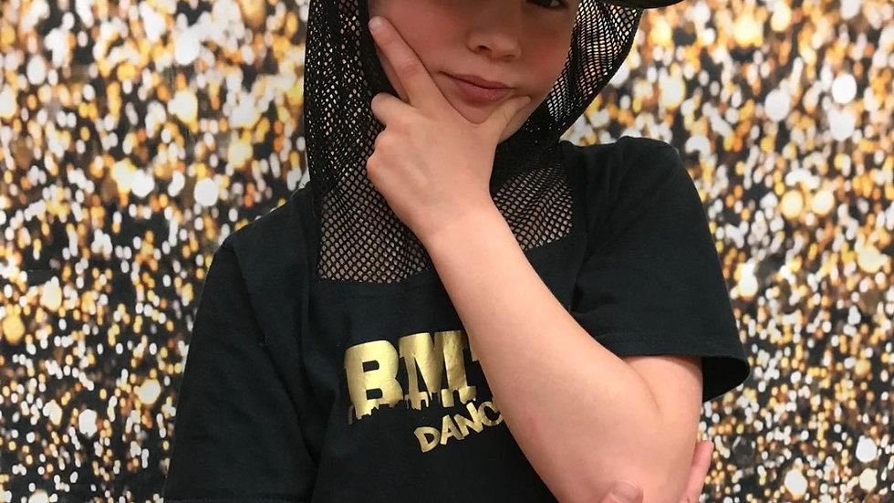(D S ) BMTC Dance - Boys Top Short Sleeve and Net Hood