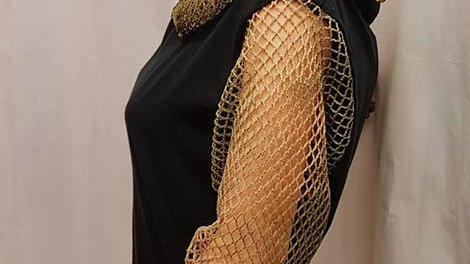 T-shirt with Net Hood & Sleeves - Net Collection