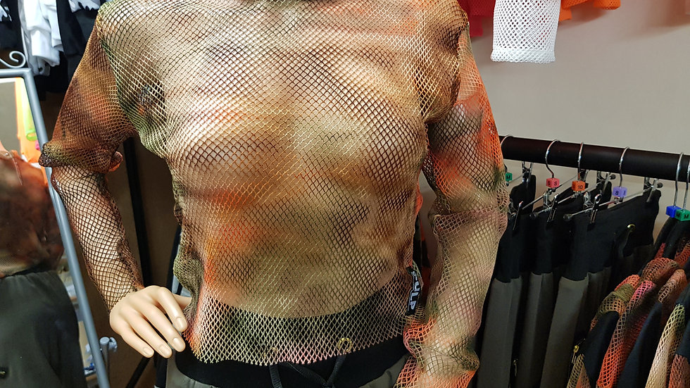 Crop Top - Net Collection (Multi-coloured)