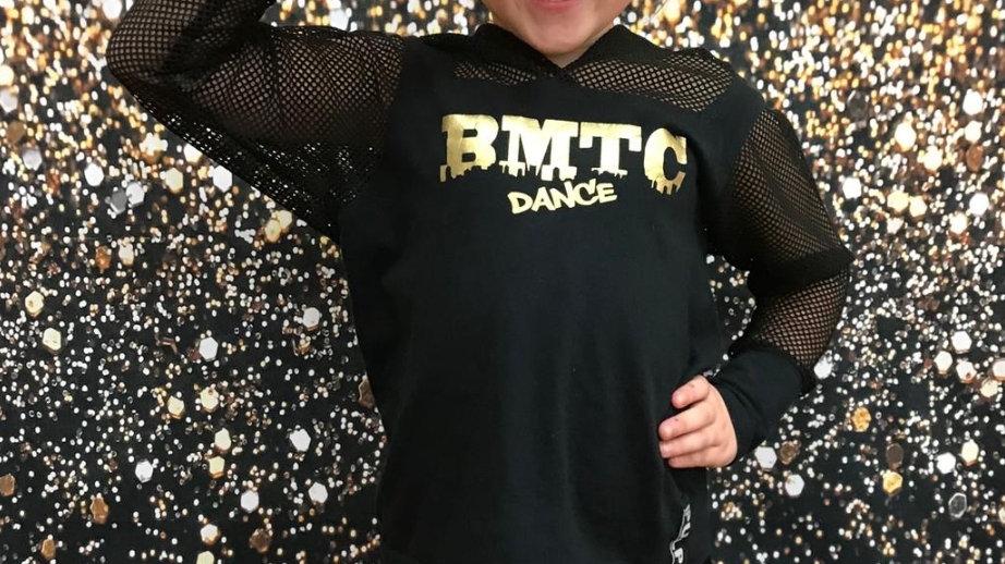 (D S ) BMTC Dance - Girls Top Long Net Sleeve and Net Hood