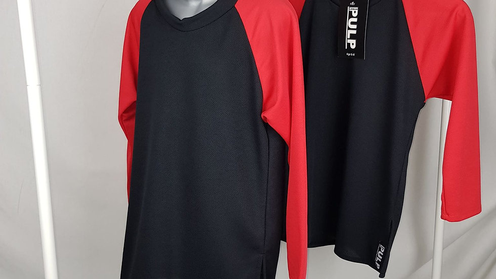 Baseball top Black & Red