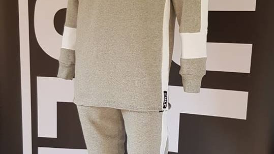 LongLine Sweatshirt - Grey Marl Collection