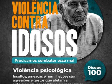 Violência psicológica ou moral é violência também. Denuncie. Disque 100. É anônimo.