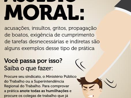 O assédio moral é configurando por atitudes que violam a ética nas relações de trabalho, praticada p