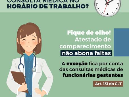 Tenho direito a abonar falta por consulta médica no horário de trabalho?