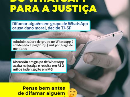 Perder a cabeça pelo Whatsapp da problemas com a Justiça sim!
