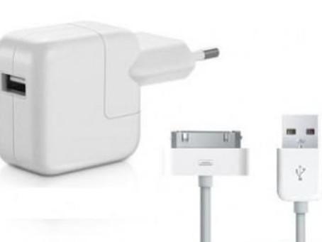 Apple deverá fazer troca de carregadores no Brasil gratuitamente.