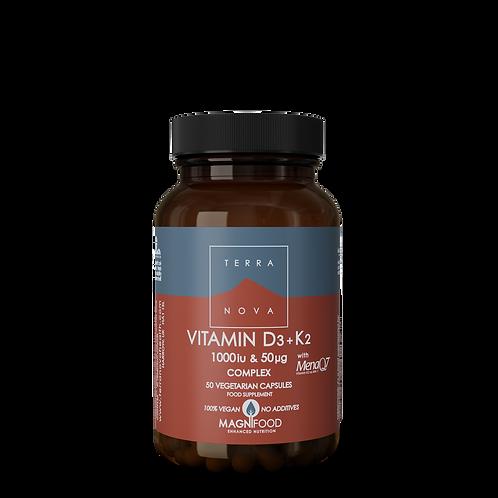 Vitamin D3 2000iu & K2 100µg Complex 50k