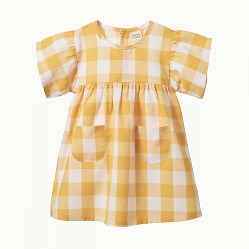 Clementine Dress - Honey Check