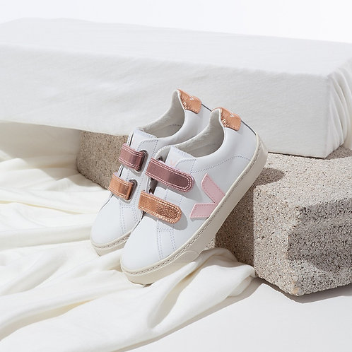 Veja Kids - Esplar Leather - White with Perale/ Venus
