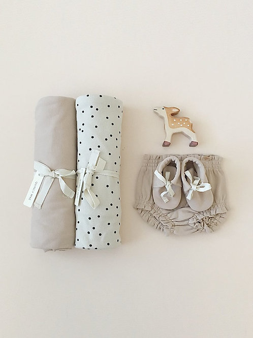 Organic Ribbed Cotton Blanket - Pebble Dot