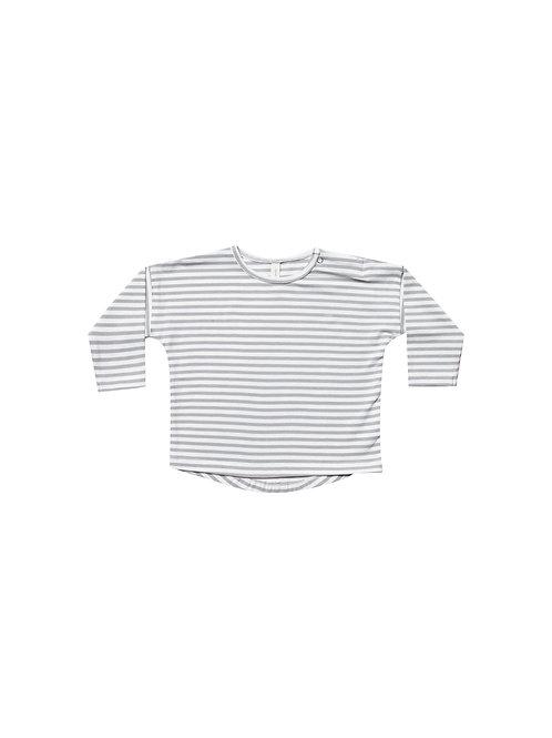 Organic Longsleeve Tee - Grey Stripe