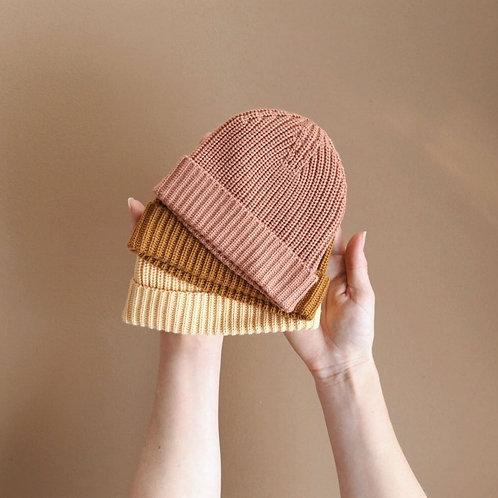 Knit Beanie - Pastel Trio