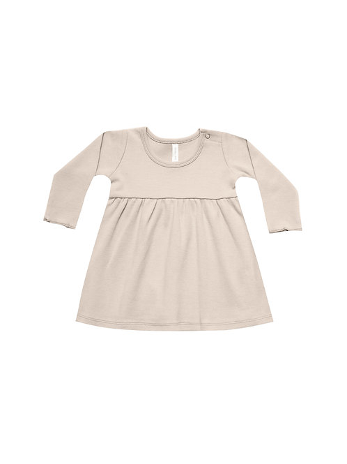 Organic Long Sleeve Baby Dress - Rose