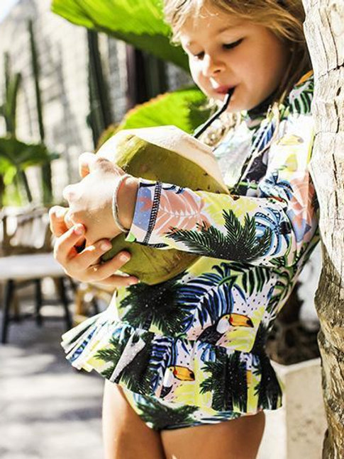 Frill Rashie & Bottoms - Toucan-Can