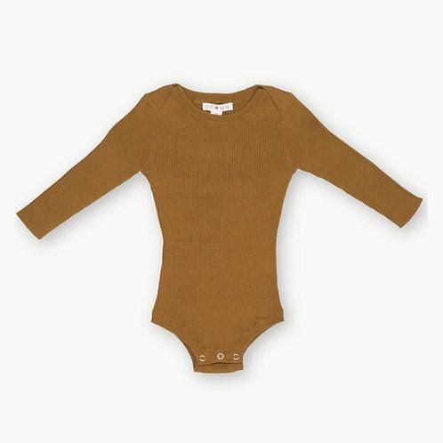 Ribbed Knit Bodysuit - Marigold