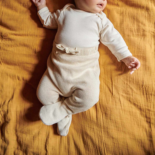 Footed Romper Pants - Knitted Organic Cotton