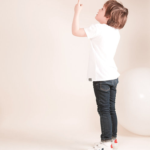 Veja Kids - Esplar Leather - White with Red & Navy