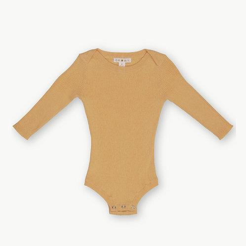 Ribbed Knit Bodysuit - Dijon