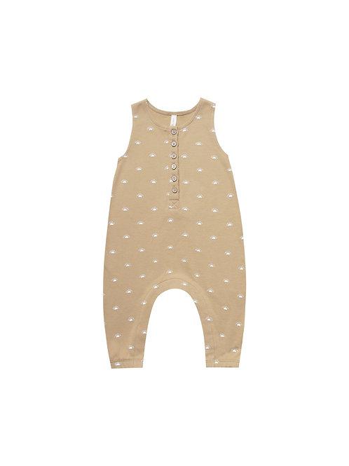 Sleeveless Jumpsuit - Honey/Sun motif