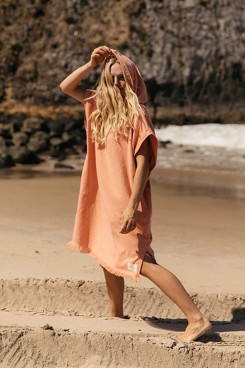 Adults Surf Ponchos - Coral
