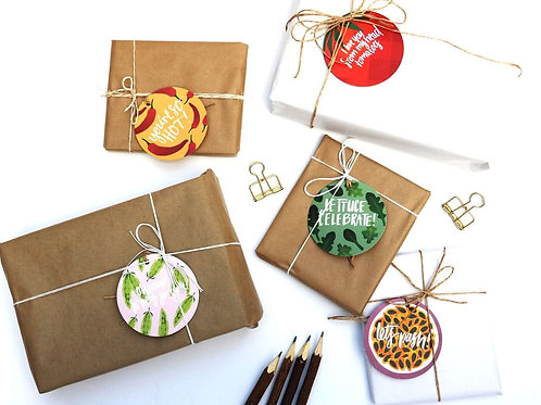 Lettuce Celebrate - Gift Tag with seeds