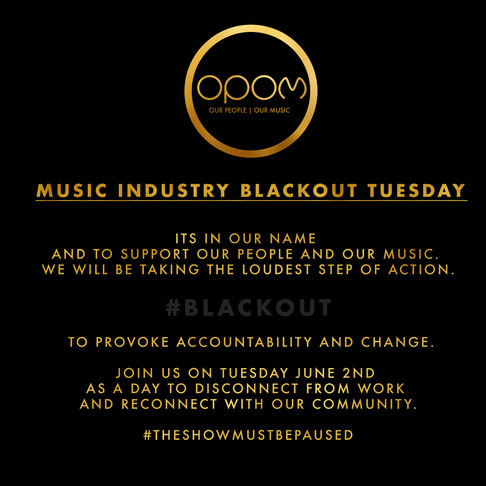 Music Industry Blackout Tuesday