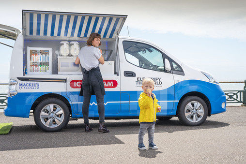 All Electric Ice Cream  Van