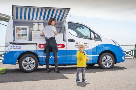 All Electric Ice Cream  Van