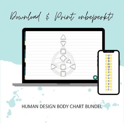 A4 Digitaal Human design Grafiek