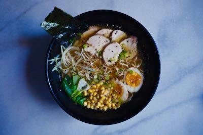 Miso Ramen de galinha