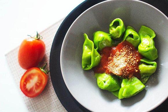Tortelloni Verde de Tomate Seco