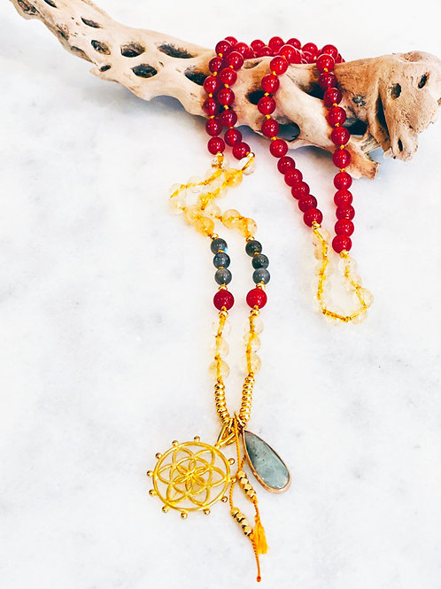 Seed of Life Mala Necklace