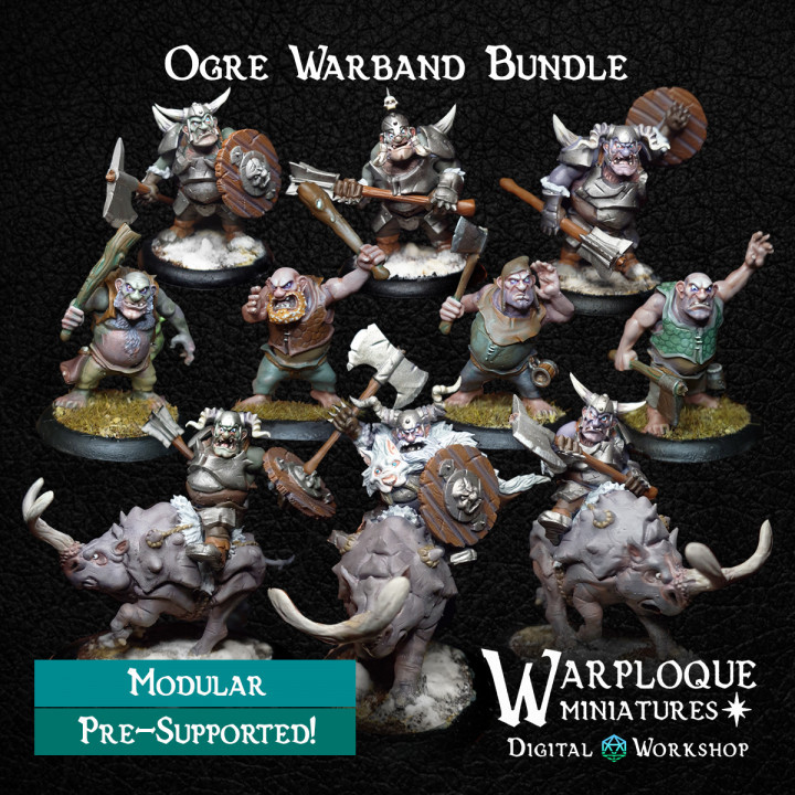 Warploque Digital Ogre warband bundle.jp