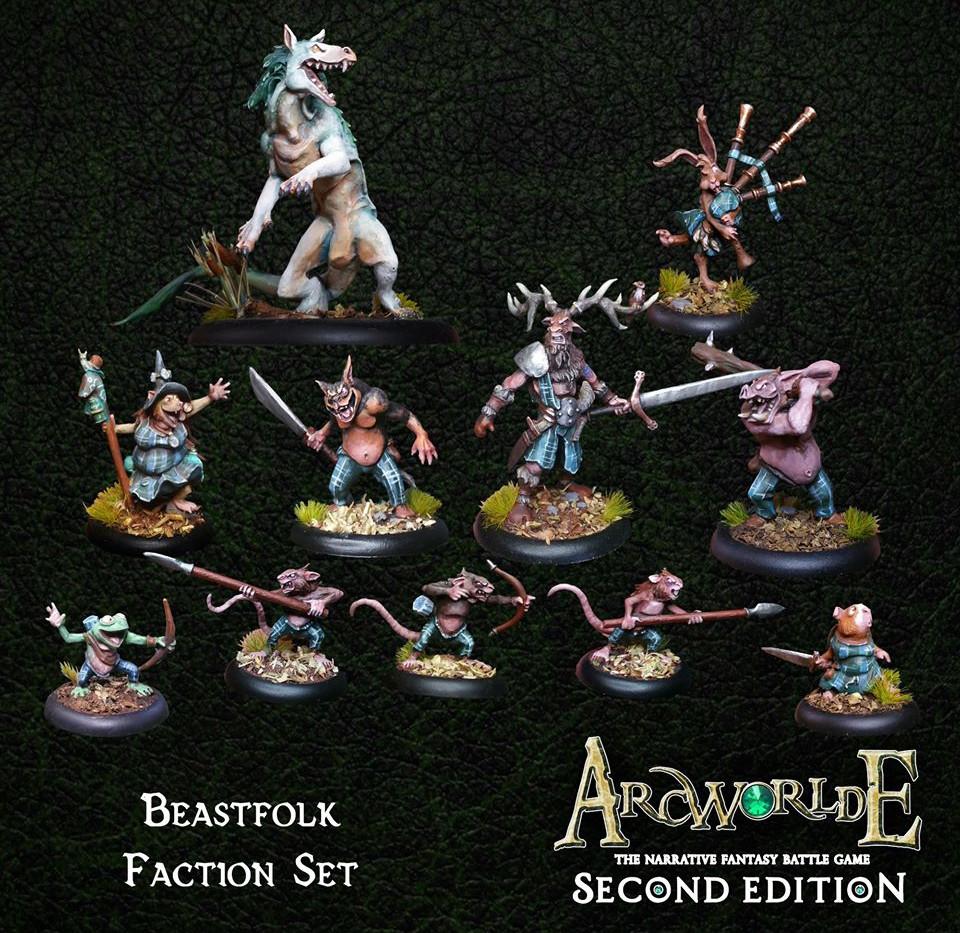 Beastfolk-Faction-Set-Warploque-Miniatur