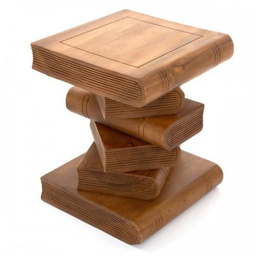 Medium Book Table-Waxed