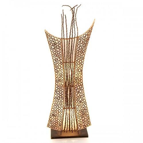 Bamboo Shield Floor Lamp - 100cm