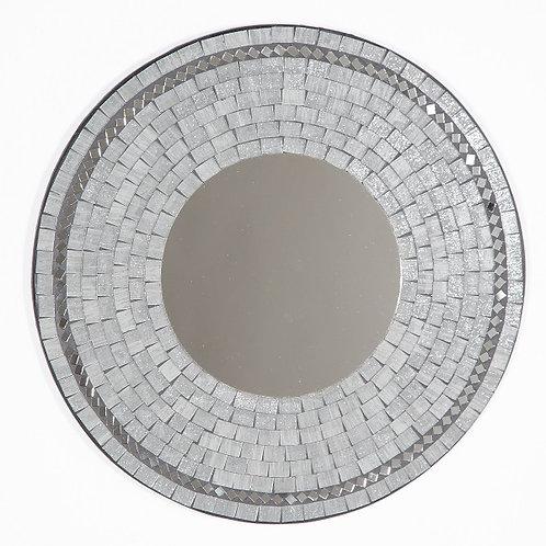 Grey Mosaic Mirror-40cm