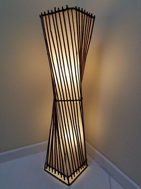 Rattan Twist Floor Lamp