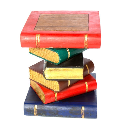 """Book Table-Painted/Gold 16"""""""