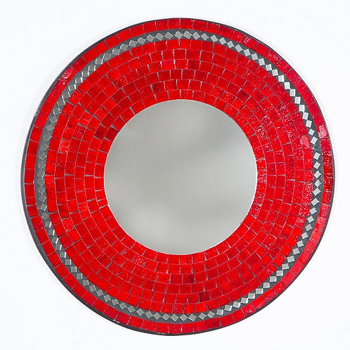 Red Jelly Mosaic Mirror