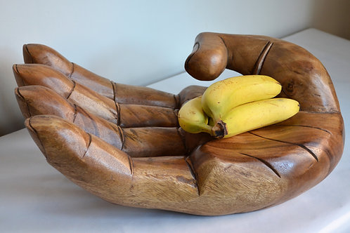 Large Carved Wooden Hand